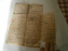 Acte jugement de tribunal de Dijon Parchemin 1724 Louis par la grace de Dieu