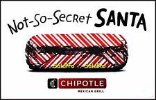 CHIPOTLE 2014 USA NOT SO SECRET SANTA BURRITO CHIPS RARE COLLECTIBLE GIFT CARD