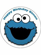 7.5 COOKIE MONSTER DIBLE ICING BIRTHDAY CAKE TOPPER