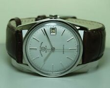 VINTAGE FAVRE LEUBA GENEVE DAYMATIC AUTO MENS WRIST WATCH ANTIQUE J19 Repainted