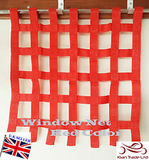 "46x86cm (18x34"") RED RACING RIBBON WINDOW NET AUTOGRASS STOCK CAR BRISCA RALLY"