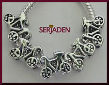 5 Bicycle Bike Charm fit European Style Jewelry 11 mm * 9 mm with 5 mm Hole S210