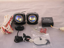 LED Daytime Running DRL Relay Harness w/ Auto On/Off Control Switch Fog Lights
