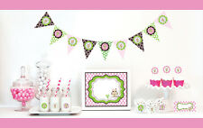 Pink Owl Girl Baby Shower Party Decorations Starter Kit