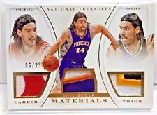 Luis Scola 2014-15 National Treasures Career Materials Prime 6 colors Patch /25