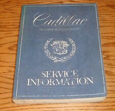 Original 1980 Cadillac Service Shop Manual 80 Eldorado Fleetwood DeVille Seville