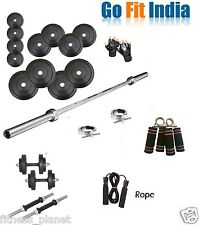GoFit 30 Kg Home Gym Set+5 Ft Plain Rod+Dumbell Rods+Accessoriess