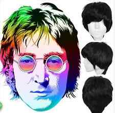 The Beatles Cosplay Wig Classic Mens Natural Short Black Hair Full Wigs gh66