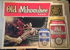 Beer Signs - Old Milwaukee Beer - Floor/Wall Adhesive Vinyl Decal - ALMOST GONE