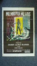 MY MASTER MY LOVE Bondage Original 1970s OS Movie Poster Darby Lloyd Rains