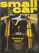 Small Car 07/1964 featuring Ford Corsair GT, Allard Dragstar Dragon, BMW