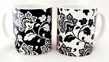 Firenze Tazze Set di 2 porcellana black & white Firenze tazze decorata a mano U.K.
