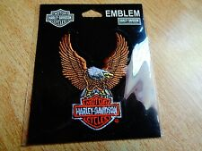 Harley Davidson Motorcycle American Eagle Patch Jacket Vest Hat Shirt Emblem