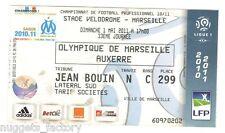 Billet / Place Olympique de Marseille - OM vs Auxerre - 2011 ( 080 )
