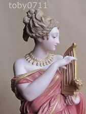 ROBINSON & LEADBEATER TINTED PARIAN WARE CLASSICAL LADY 1890 LEADBETTER(Ref1798)