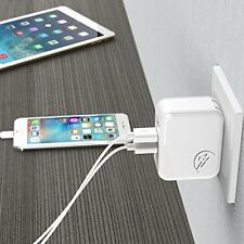 USB Wall Charger 4.8A 24W Dual Port Foldable US Plug for iPhone, Samsung & More