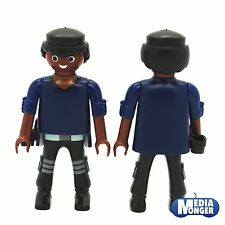 Playmobil ® base personnage: afro undercover police | police avec étui