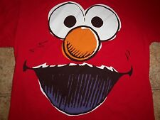Elmo Sesame Street Children's TV Show Red Graphic Print T Shirt L