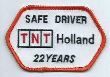 TNT Holland safe driver 22 years driver patch 2-1/2X3-3/4 in