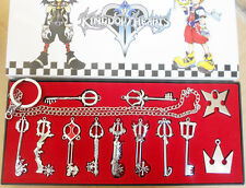 12pcs Kingdom Hearts Sora Crown&Roxas Cross KEYBLADE Halskette zwei Stücke Set