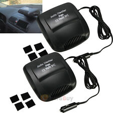 2x12V Car Vehicle Portable Ceramic Heater Heating Cooling Fan Defroster Demister