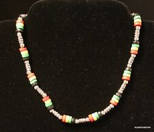 """Rue 21 Carbon Elements Colorful Bead Necklace Choker Adjustable 16"""" to 19"""""""