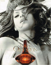 PUBLICITE ADVERTISING 045  2008   CALVIN KLEIN parfum SECRET OBSESSION  EVA MEND
