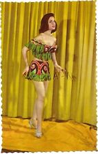 Original 1950s French Semi Nude Pinup PC- Native Indian Skirt and Top- Legs