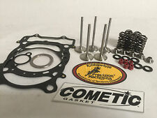 YFZ450R YFZ 450R +1mm Kibblewhite Stainless Valves Valve Springs Kit 98mm Gasket