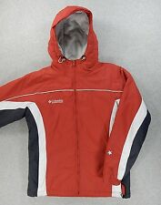 Columbia Insulated Hooded Winter Jacket (Womens Medium) Red