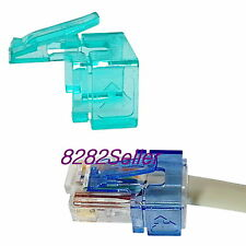 10PCS Green RJ45 plug SOS modular connector fix Replace Repair(No tool needed)
