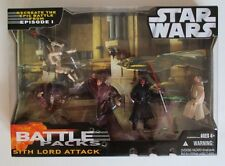 Star Wars Battle Packs SITH LORD ATTACK Obi-Wan,Darth Maul,Qui-Gon,Battle Droids