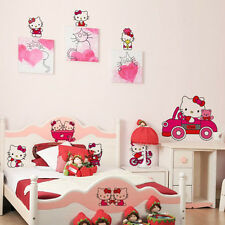 Hello Kitty Pattern Children's Room REMOVABLE Wall Sticker Decal Art Mural NEW!