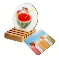 Overprinted Personalised Coaster Square or Round - Pictures,Photos and Text