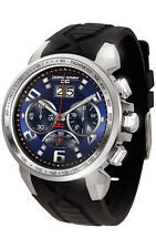 Jorg Gray JG5600-23 Mens Watch Chronograph Blue Dial Integrated Black Strap