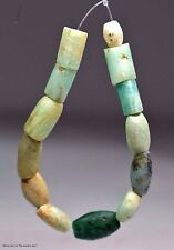 13 Ancient Neolithic Amazonite Stone Beads from Mauritania Africa