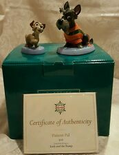 """WDCC """"Jock and Scamp"""" Lady and the Tramp in Box with COA's RARE"""