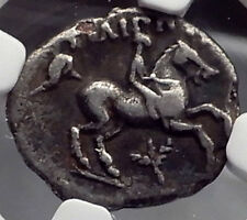 PHILIP II 323BC Macedonia OLYMPIC HORSE Race WIN Silver Greek Coin NGC i59822