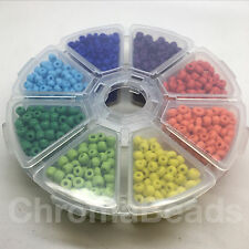 Bead Wheel - size 6/0 (approx 4mm) Opaque glass seed beads - starter pack / gift