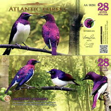ATLANTIC FOREST - 28 aves dollars 2016 FDS UNC