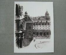 Reproduction de dessin : facade sur la Cour d'Honneur de l'école militaire Paris