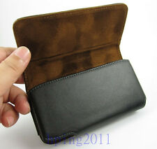 New Quality Genuine Leather Belt Clip Carrying Case Holster for iPhone 5 5S 5C