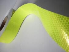 Cinta Adhesiva Fluorescente y Reflectante AMARILLA - 5 cm (ancho) x 1 m.(largo)