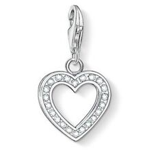 New Genuine Thomas Sabo Sterling Silver CZ Glittering Heart Charm 0018 £45.00