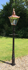 Small Cast iron lamp Post & Copper colour top Victorian street light 2m 55cm