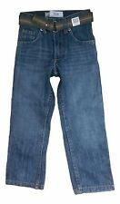 Lee Dungaree Size 7 Slim Blue Slim Fit Straight Leg Belted Jeans NEW