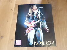BON JOVI!!!!!!! RARE FRENCH VINTAGE POSTER FROM THE 80'S !!!!!!!!!!!!!!!!