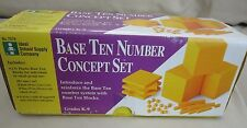 Base Ten 10 Number Concept Set Ideal School Supply Math Manipulative Grades K-9