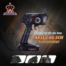 AUSTAR AX5S 2.4G 3CH AFHS Radio Transmitter + Receiver for RC Car Boat US C6A1
