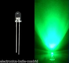 10x ULTRA BRIGHT LED GREEN WATER CLEAR 5mm FOR BOSS IBANEZ KEELEY LEDS VERDE